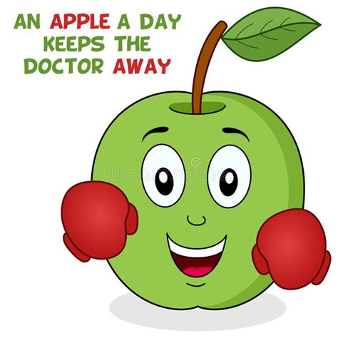 Lipgloss Each Day Keeps The Doctor Away by An Apple A Day Keeps The Doctor Away Stock Vector