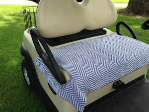 Seat Cover Golf Cart Gray And White Chevron Terry Cloth Golf Cart Seat Cover