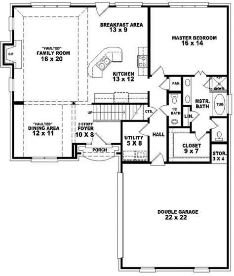 3 bedroom 2 bath open floor plans 653760 french country 3 bedroom 2 5 bath house with