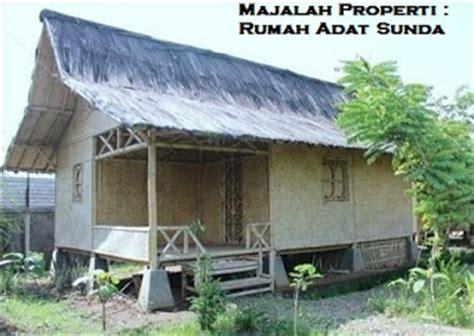 desain bentuk rumah adat sunda dan penjelasannya rumah perumahan