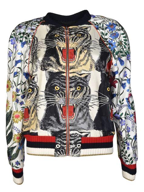 Jaket Fashion Gucci 5 gucci gucci tiger bomber jacket multicolored s blazers italist