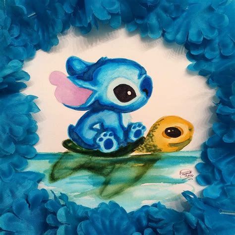 stitches painting stitch crush lilo stitch n scrump