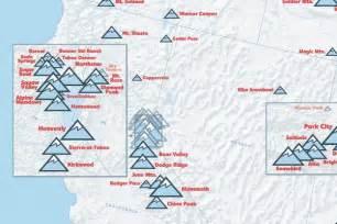 america ski resorts map us ski resorts map 24x36 poster