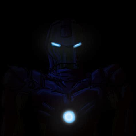 wallpaper dark iron man iron man in the dark by xyrten on deviantart