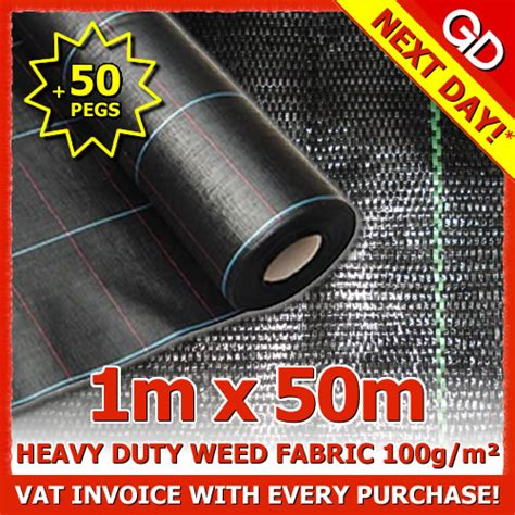 1m x 50m heavy duty woven ground mulch