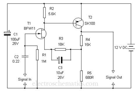 fet transistor bfw11 fet prelifier circuit