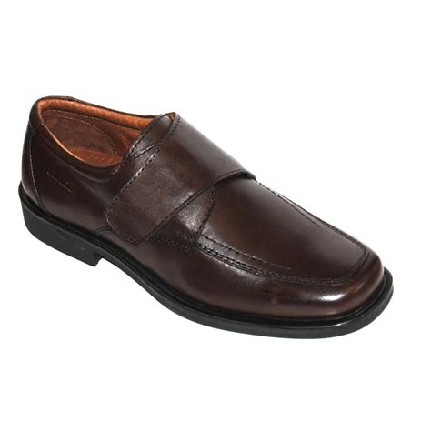 rohde s brown leather velcro shoe marshall shoes