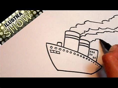 como hacer un barco dibujo facil dibujar un barco tutorial ilustra show youtube