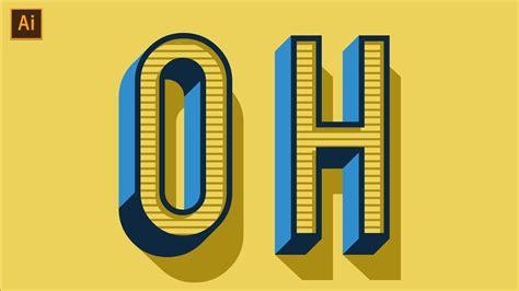 design font with illustrator vintage retro text effect tutorial adobe illustrator