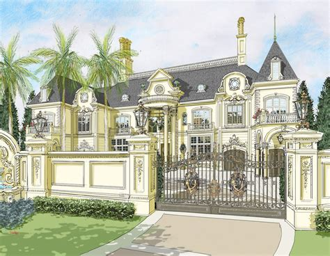 Three Bedroom Townhouse Floor Plans the abuja french chateau nigeria africa