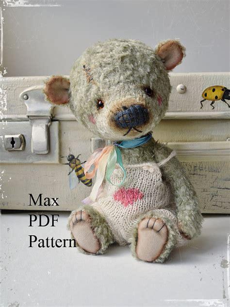 etsy teddy bear pattern pdf teddy bear pattern 8 inches 20 cm max