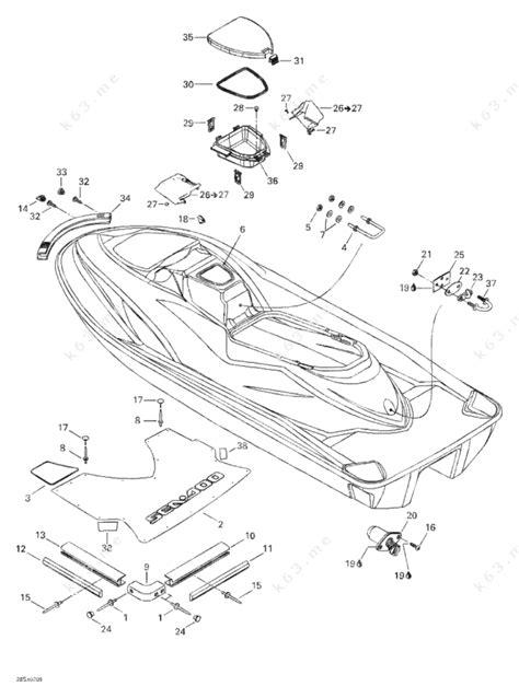 seadoo parts diagram sea doo 2002 gti gti 5558 5559 6116 rear view