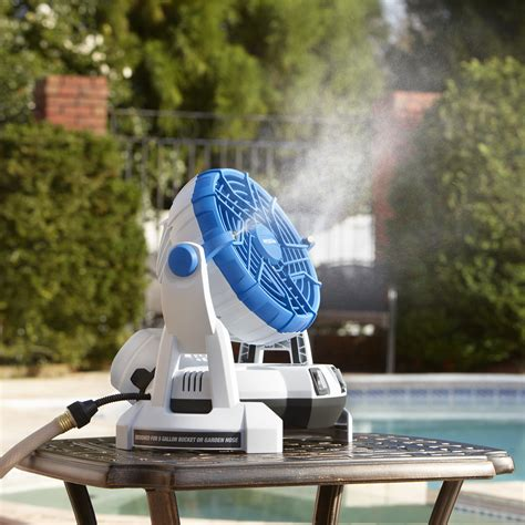 best outdoor misting fan 18v bucket top misting fan products arctic cove