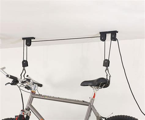 ceiling bike lift cheap to not so cheap bike storage ideas for your