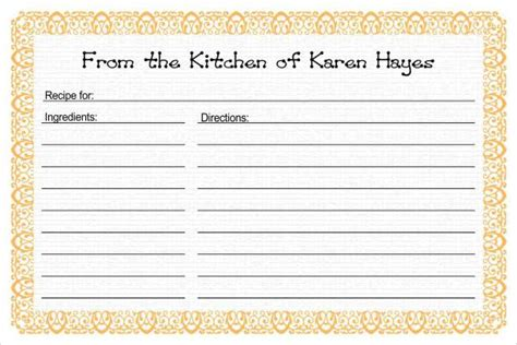 free recipe card templates to type on 17 recipe card templates free psd word pdf eps
