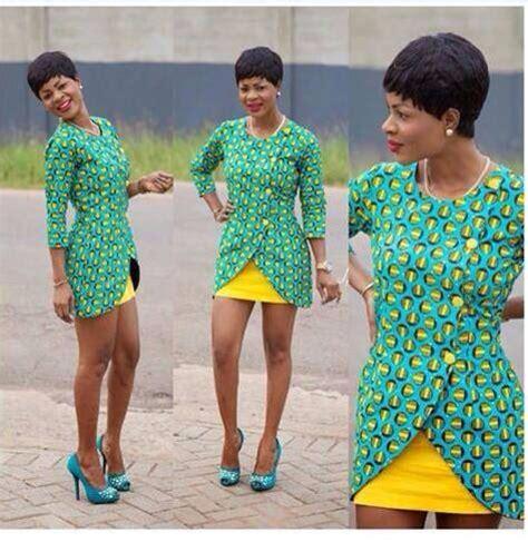 tenues africaines en tissu pagne modeles de robes courtes en wax
