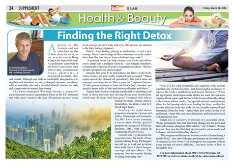 Detox News Articles by Finding The Right Detox Imi