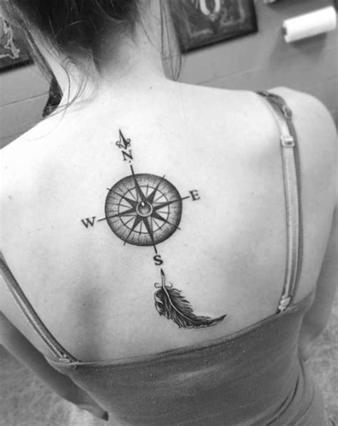 compass tattoo back of neck 60 excellent compass tattoos designs on back