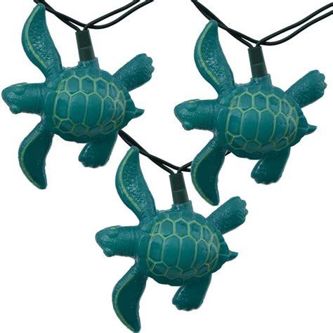 teal string lights teal sea turtle novelty lights 10 lights
