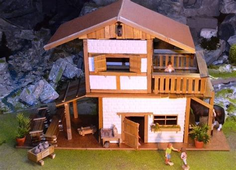 siku scheune holz wohnhaus mit balkon f 252 r siku farmer 1 32 stall
