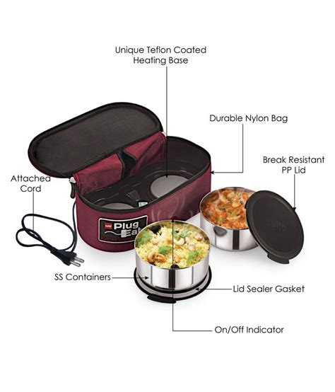 Lunch Box 2 33 on milton slimtron electric lunch box 2 container on snapdeal paisawapas