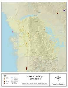sinkhole activity map florida sinkholes of citrus county florida 2008