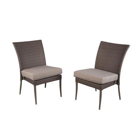 Restaurant Patio Chair by Hton Bay Posada Patio Dining Chair With Gray Cushion 2