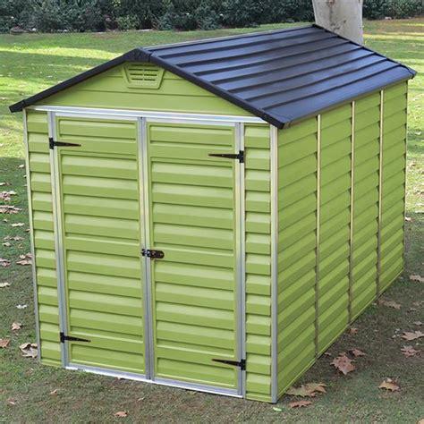 10 X 6 Plastic Shed waltons 6 x 10 green skylight plastic shed