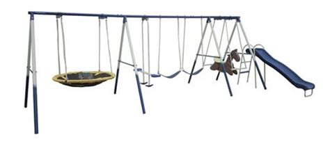 used metal swing sets for sale walmart canada super fun 8 station swing set on clearance
