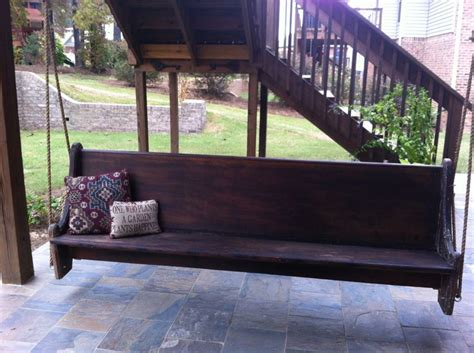 old porch swing church pew porch swing diy pinterest last night