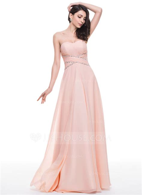 prom dress a line princess sweetheart floor length chiffon prom dress