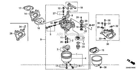 honda gx270 carburetor parts diagram honda free engine