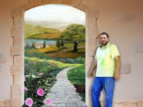 How To Paint A Mural On A Wall 3d Wall Murals For Home Faux Painting Murals And