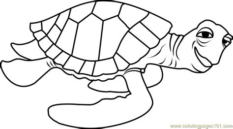 nemo sea turtle coloring page crush coloring page free finding dory coloring pages