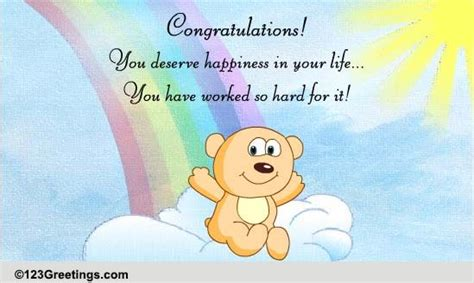 deserve happiness    ecards greeting cards
