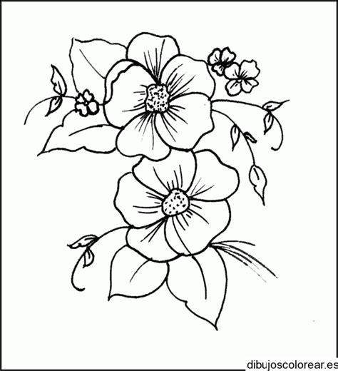 imagenes para dibujar un cuadro dibujo de un cuadro con dos flores
