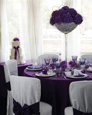 purple silver and white wedding table decorations 54 best images about purple bling wedding theme on