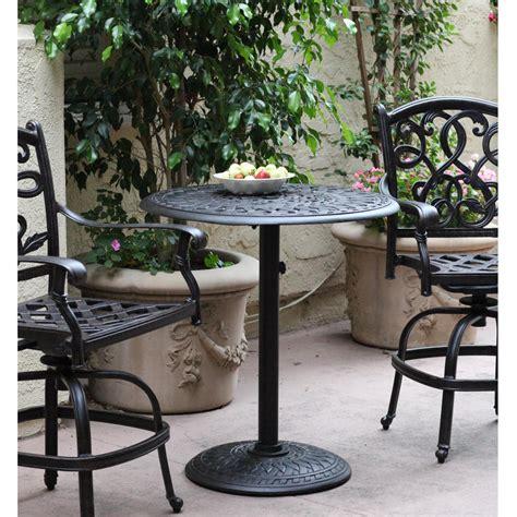 darlee st cruz cast aluminum patio swivel bar stool patio bar sets the outdoor store