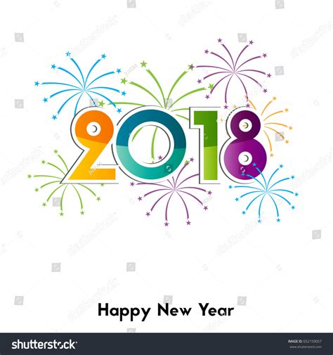 happy new year element vector design happy new year 2018 background element stock vector