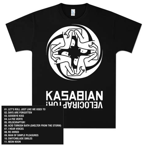 T Shirt Kasabian kasabian tracks t shirt