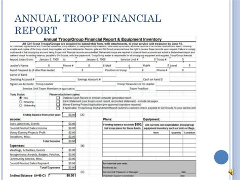 Cub Scout Treasurer Spreadsheet by Troop Treasurer