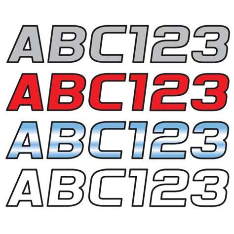 boat registration numbers west marine hardline products 3 quot block lettering kit contrasting