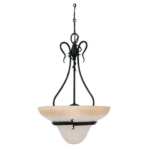 forged iron pendant lighting sea gull lighting saranac lake 3 light forged iron pendant