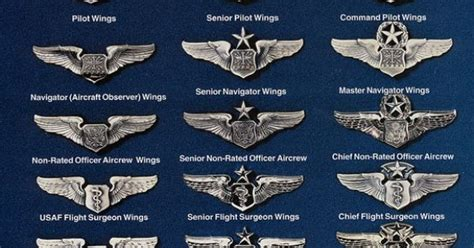 air force aviation badges air force vietnam usaf united states air force quot wings quot chart military rank