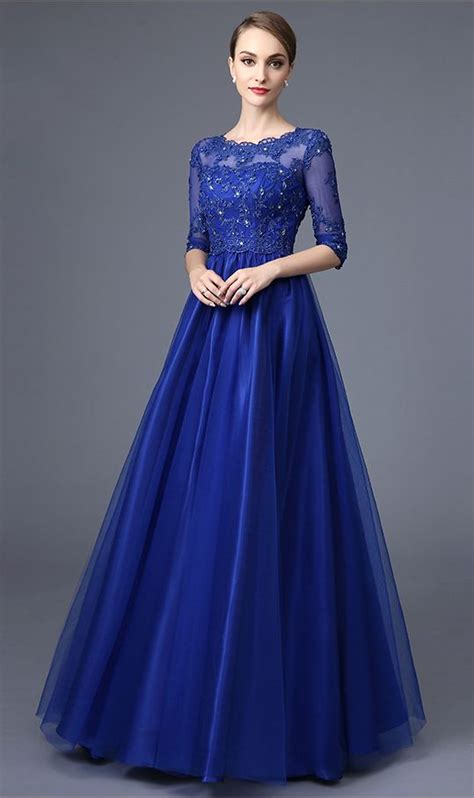 prom dresses on pinterest lace gowns prom and sequin dress half sleeves royal blue lace evening prom dresses high