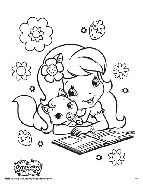 strawberry shortcake coloring pages games strawberry shortcake and custard coloring page