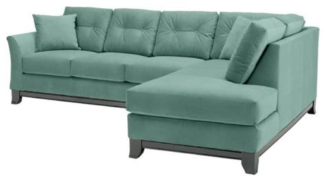 sixties sofa marco 2pc sectional sofa sixties blue chaise on left