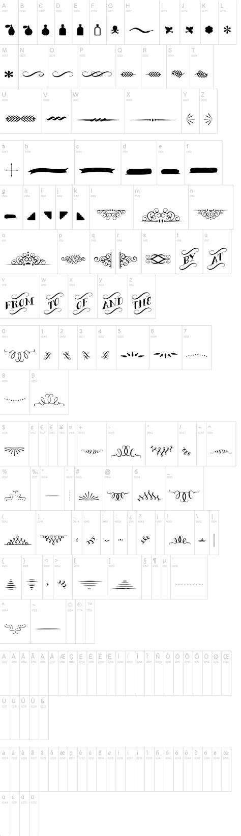 typography ornaments bergamot ornaments font dafont