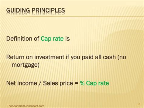 Apartment Cap Rate Definition Ppt How To Analyze Apartment Deals 101 Powerpoint