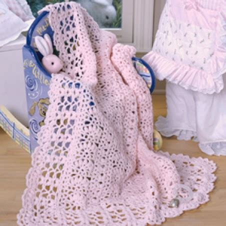 perfect in pink baby afghan crochet epattern | leisurearts.com